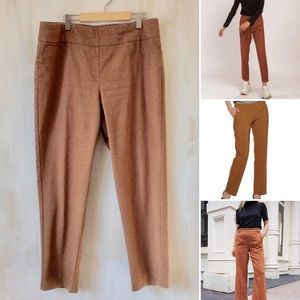 High waisted, ankle length plus size pants